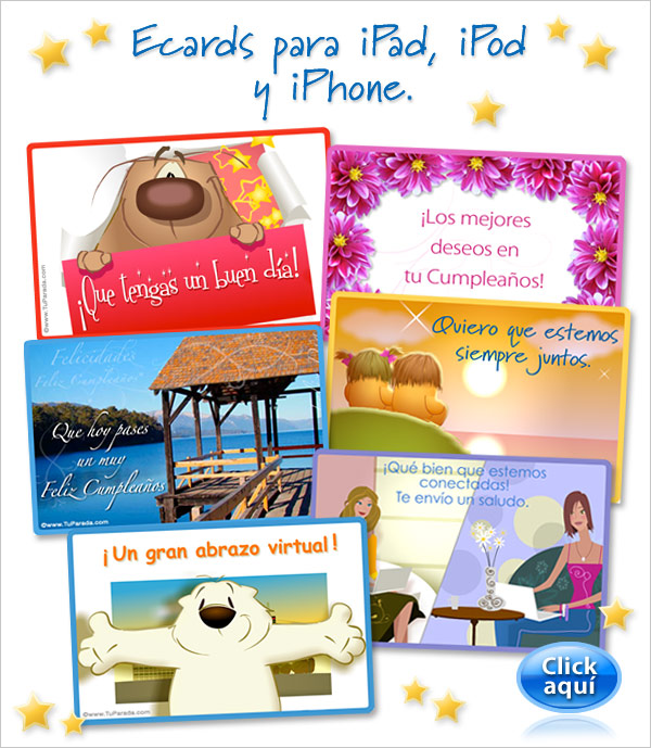 eCards para iPad, iPod y iPhone