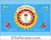 Tarjeta de Navidad con ángel