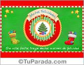 Tarjeta de pino navideño