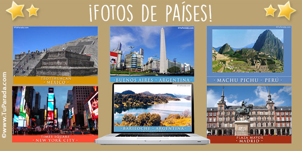 Fotos de países para compartir y enviar