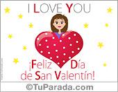 Colorida tarjeta de San Valentín