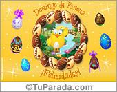 Tarjeta animada con huevos de pascuas