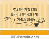 Buenos libros y un rico café