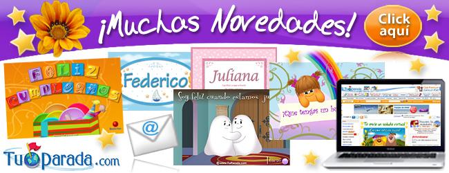 Postales, tarjetas virtuales y juegos