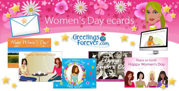 Women's day ecards