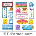 Mini nombres para stickers