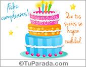 Tarjetas con tortas de cumpleaños
