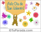 Tarjeta de oso de San Valentín