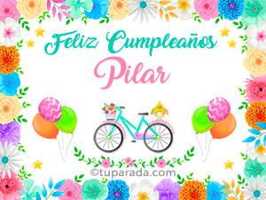 Tarjetas de cumpleaños para Pilar