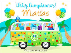 Tarjetas de cumpleaños para Matías