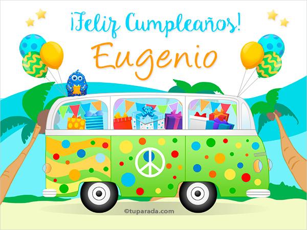 Tarjetas de cumpleaños con el nombre Eugenio