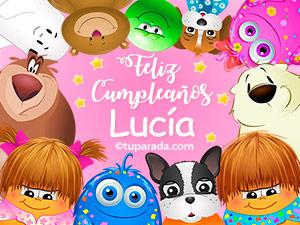 Tarjetas de cumpleaños para Lucía