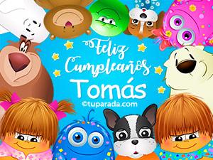 Postales de cumpleaños para Tomás