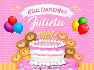 Tarjetas de cumpleaños para Julieta