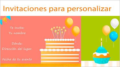 Invitaciones a cumpleaños y bodas para personalizar
