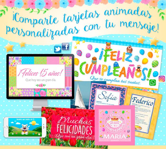 Tarjetas de cumpleaños, amistad, amor y saludos