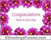 Congratulations ecards