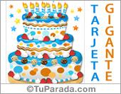Tarjeta de torta en azul