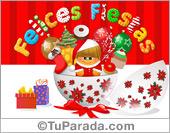 Tarjeta de Navidad circular