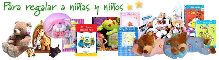 Regalos, peluches y libros para niños