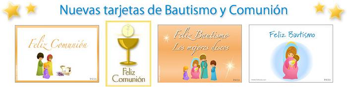 Tarjetas de Comunión y bautismo