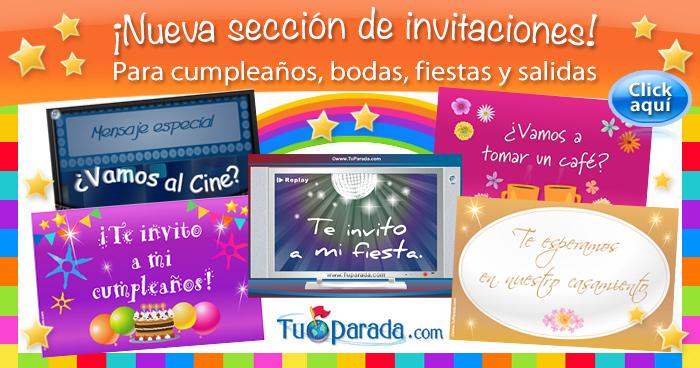 Invitaciones Digitales De Cumpleaños Fiestas Bodas E